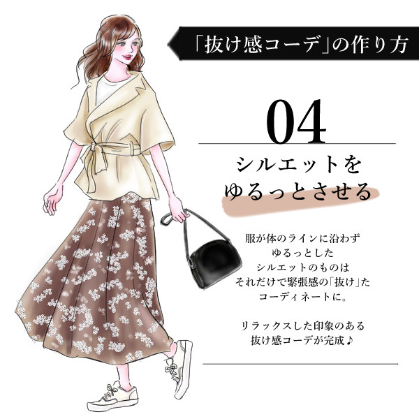 株式会社マイナビ様 「マイナビウーマン」記事挿絵 抜け感コーデシリーズ