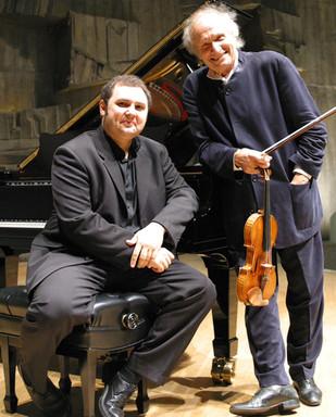 ギトリスと、ピアニストのマルディロシアン