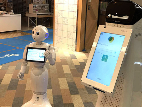 日本のロボットPepperとアメリカのロボットNAVii™(ナビー)が 協力してパルコで接客を実現! ナビーとの連携含むPepper向けアプリケーションを パルコ・シティ&イサナドットネットが共同開発
