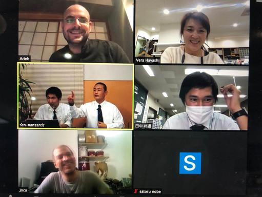オンライン生配信に向けての日本、イスラエル遠隔ミーティング