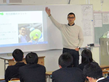 鳥取県立鳥取工業高等学校で代表石谷が授業を行いました
