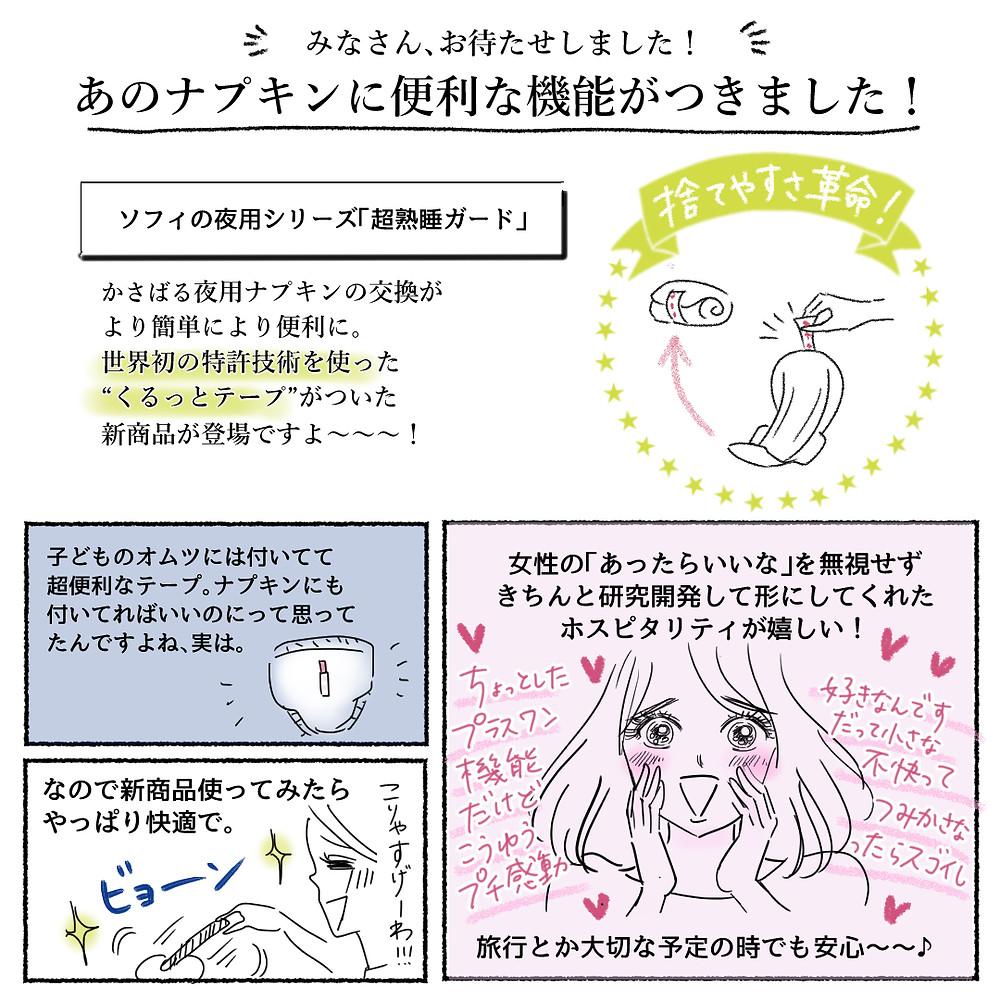 ユニ・チャーム株式会社様「ソフィ」超熟睡ガードシリーズ