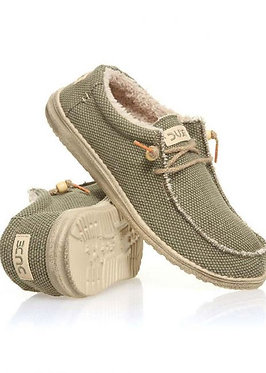 HEY DUDE Wally Chalet (Fur Lined) Shoes Khaki