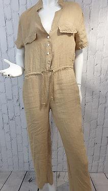 A Linen Jumpsuit