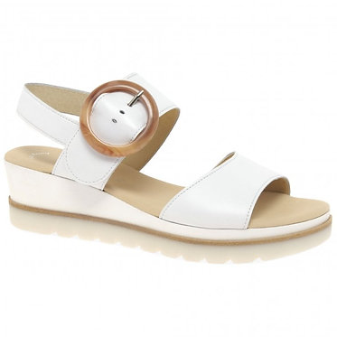 Gabor Yeo Ladies Wedge Heel Sandals White