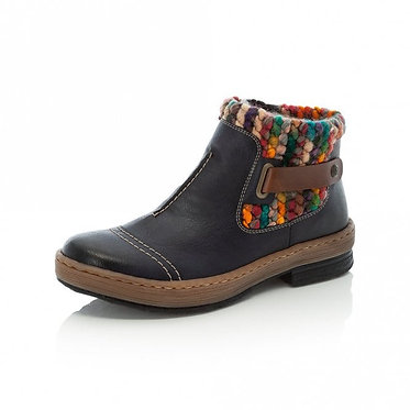 Rieker Z6784 Zip up Ankle Boots