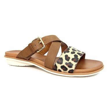 JLH151 Josie Leopard Strappy Sandal