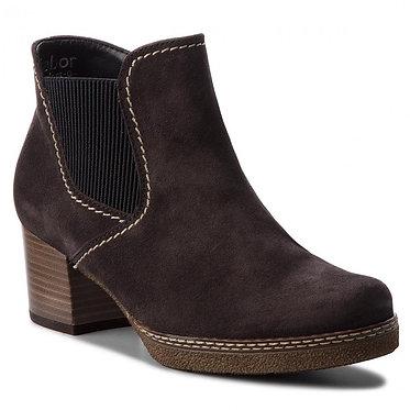GABOR Ladies Lilia Suede Ankle Boot - Dark-Blue