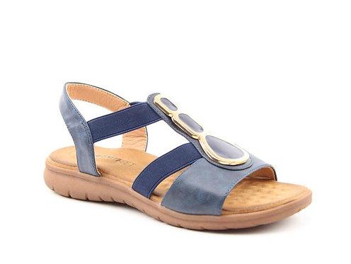 Heavenly Feet Palm Navy