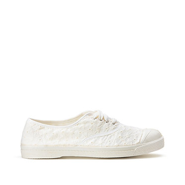 BENSIMON Canvas Broderie Anglaise Trainers