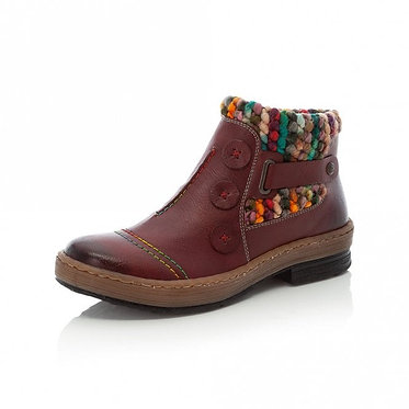 Rieker Z6759 Zip up Ankle Boots