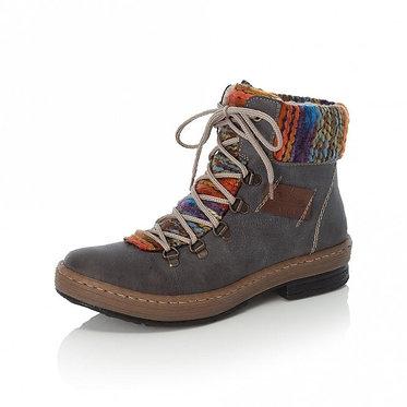 Rieker Z6743 Combination Ankle Boots