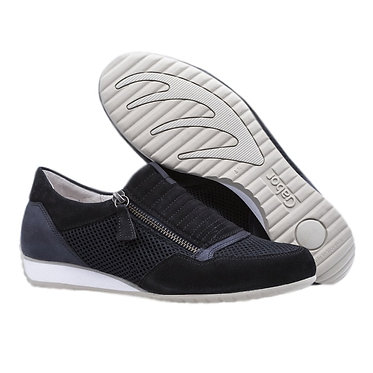Gabor 26.352.36 Brunello Modern Suede Wide Fit Sneakers in Pacific