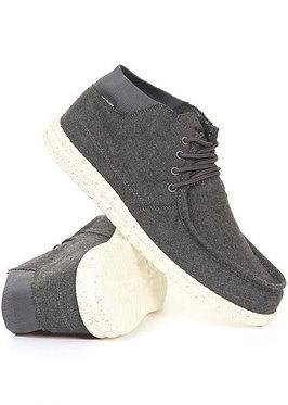 HEY DUDE Wayne Shoes Charcoal Wool