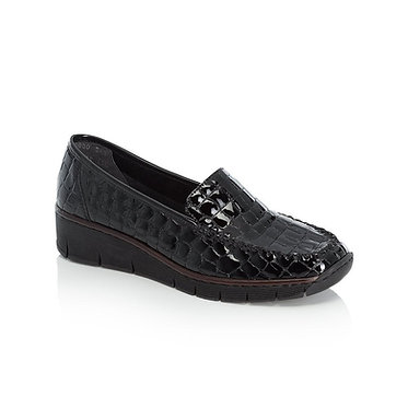 Rieker 537Q0 Ladies Slip on Shoes