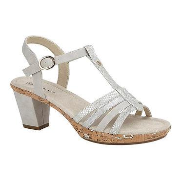Cipriata Adona Halter Back Sandal Light Gold