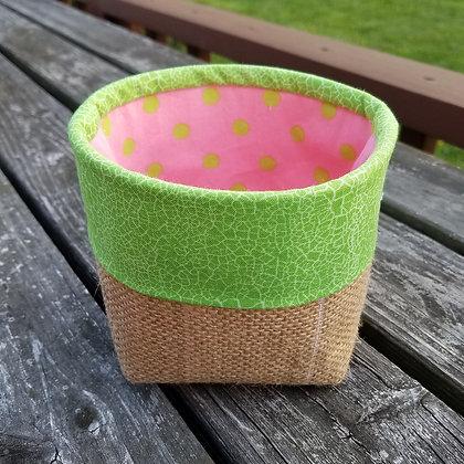 Green Dotty mini basket