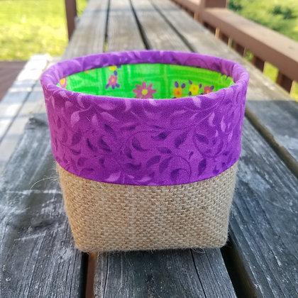 Purple Garden Days mini basket