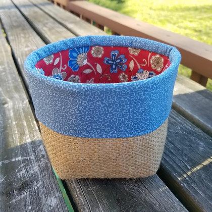 Denim Blue mini basket