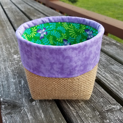 Purple Butterfly mini basket