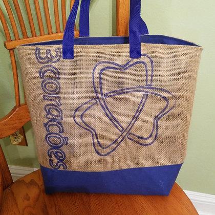 Trefoil graphic tote bag