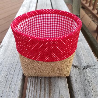 Checks or Dots? mini basket