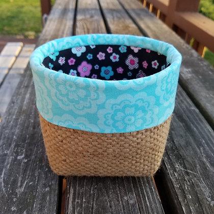 Black Flower Surprise mini basket
