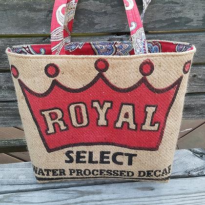 Royal Red Paisley tote bag