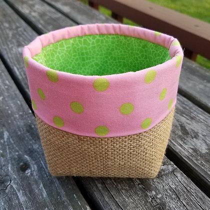 Spring Polka Dot mini basket