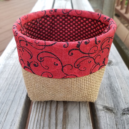 Red Swirls mini basket
