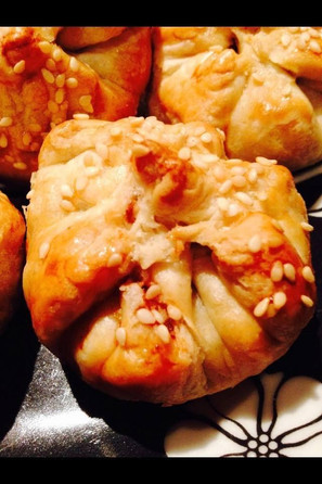 Baked Char Siu Pao (pork or chicken or vegetarian)