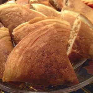 Appam Balik (two thick malaysian pancakes - see sweet things menu for more information)