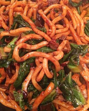 Vegetarian Hokkien Noodles with tofu