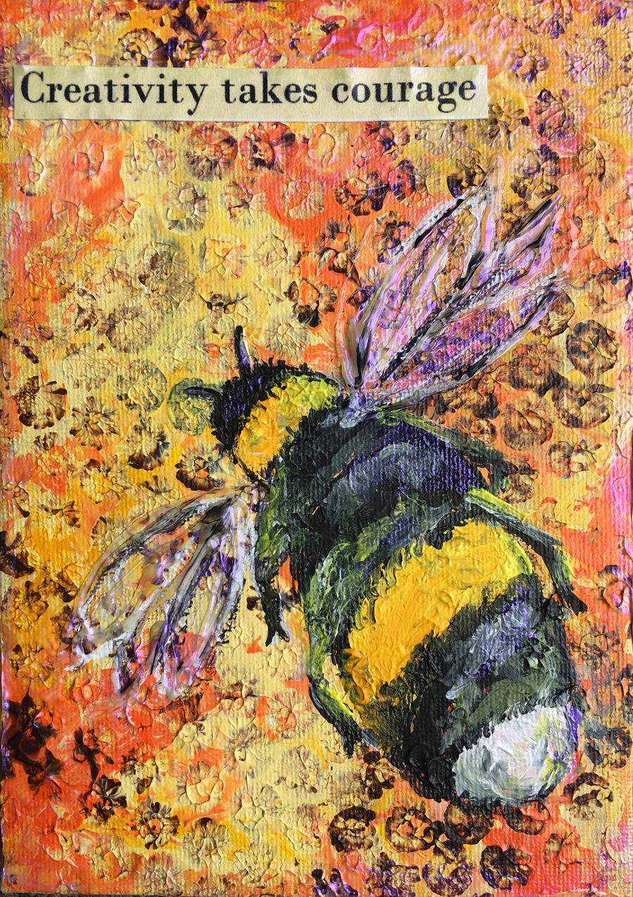 Honey Bee Mini Canvas