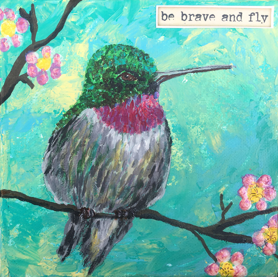 Hummingbird Mini Canvas