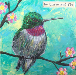 Hummingbird Mini Canvas