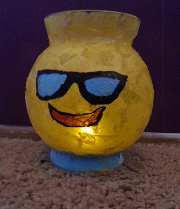 Emoji Jar Lamp