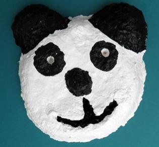 Sculptamold Panda Face