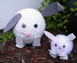 Paper Mache Bunnies