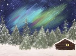 Snowy Yukon Cabin