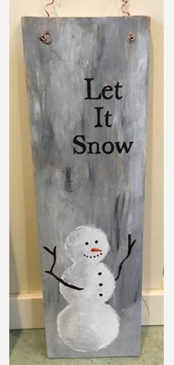Snowman Fenceboard
