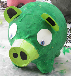 Paper Mache Angry Birds Pig