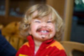 child has a sweet breakfast.jpg