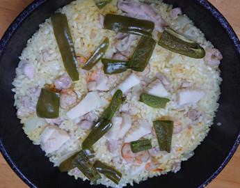 雄町米を食べて応援! パエリアを作ってみました!