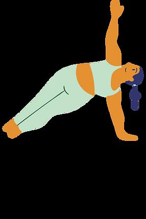 Lady doing Pilates. Body Positivity