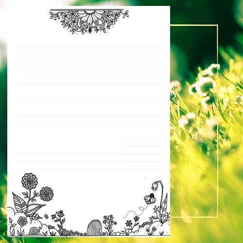 Papier à Lettres Printemps/Eté