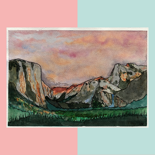 "Aquarelle ""Yosemite"""