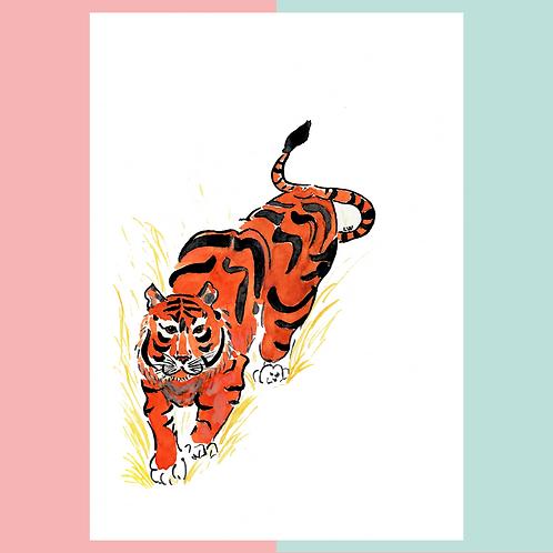 """Aquarelle """"Tiger"""""""