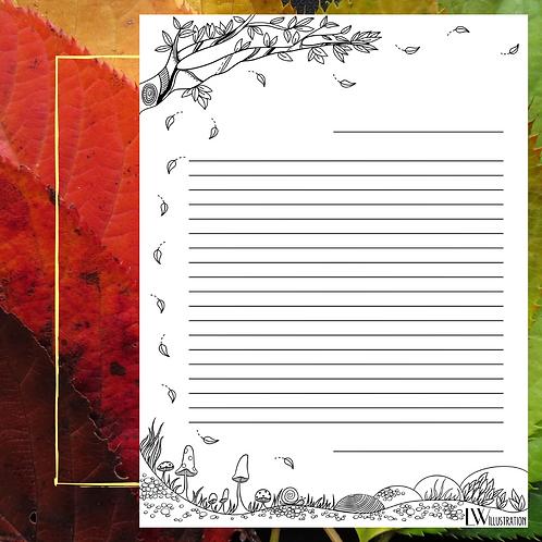Papier à Lettres Automne