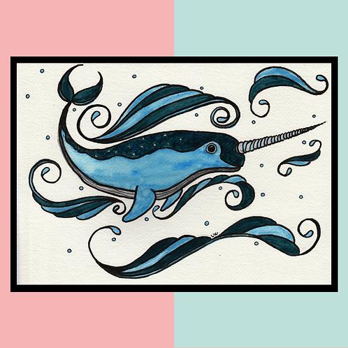 "Aquarelle ""Narval"""